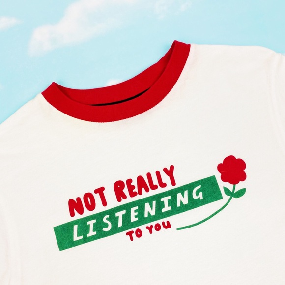 💖 SOLD 💖 Lazy Oaf Not Really Listening Top